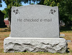 He checked e-mail