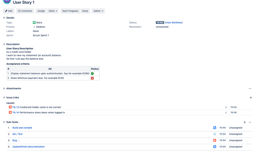 Customizing testing in Jira