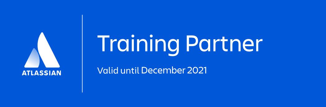 Training Partner - white on blue bg - Dec 2021